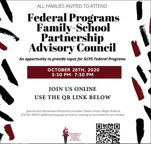 Federal Programs Family School Partnership Advisory Council