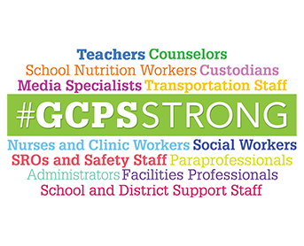 GCPS staff and employees named in GCPSStrong collage
