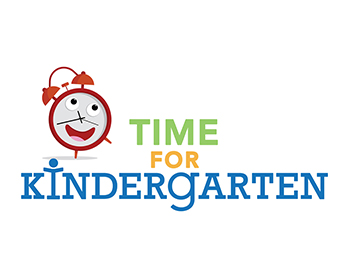 Clock graphic and Time for Kindergarten text