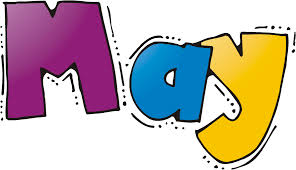 Clip art image of the word May