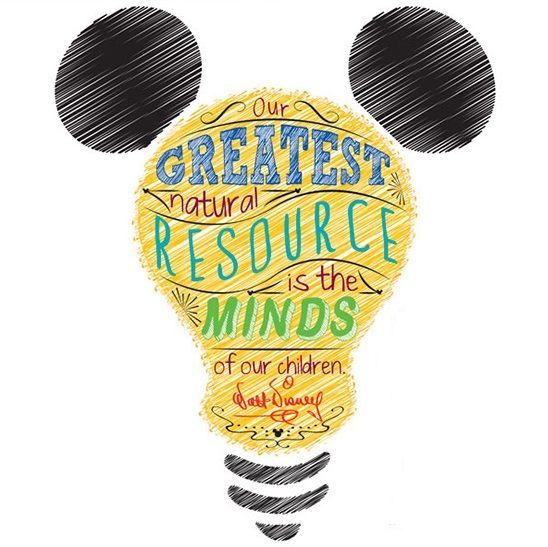 Image - Greatest National Resources are our children quote.  Disney