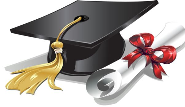 Cap and diploma for rising 9th graders