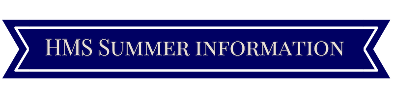 Page Banner reads HMS Summer Information
