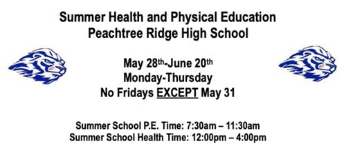 Summer Health and PE