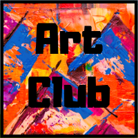 Art Club Image with paint background