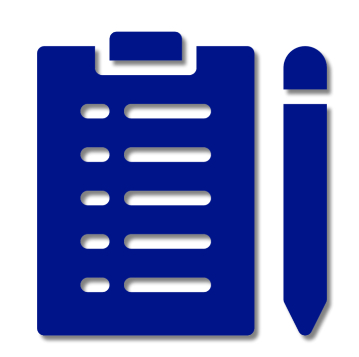 Clipboard and pen icon