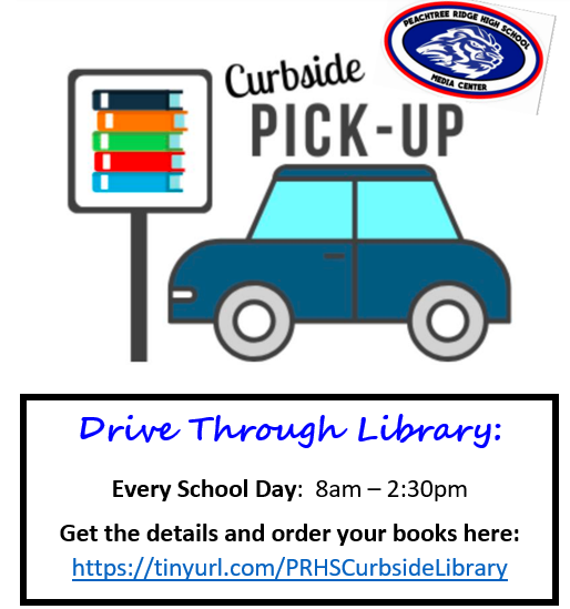 Curbside Library from 8-2:30 every day
