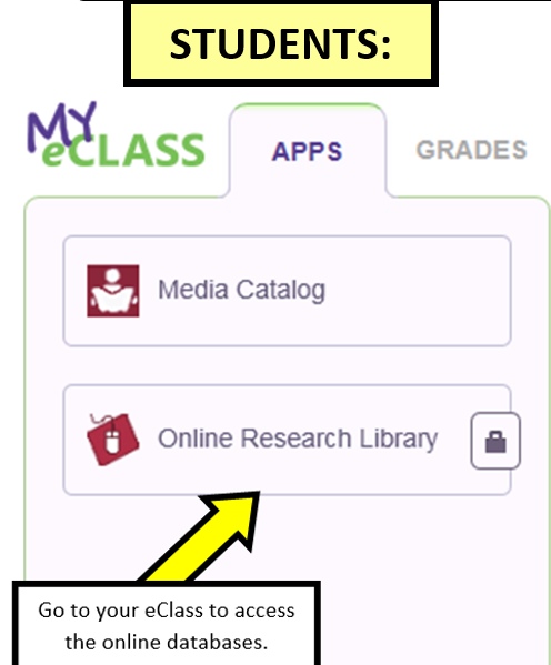 Media Center / Online Research Library Databases