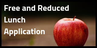 an apple with the words free and reduced lunch application