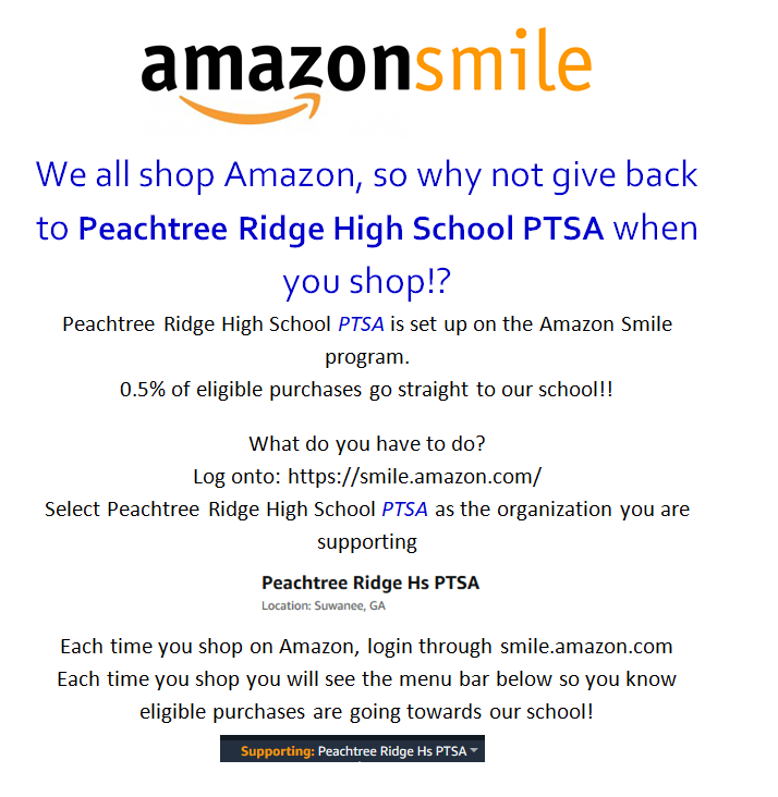 Support the PTSA using Amazon Smile
