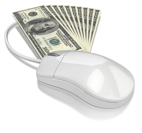 Computer mouse with money