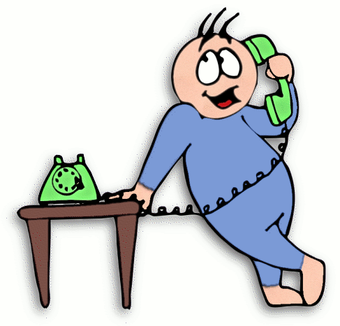 Clip art of person on phone