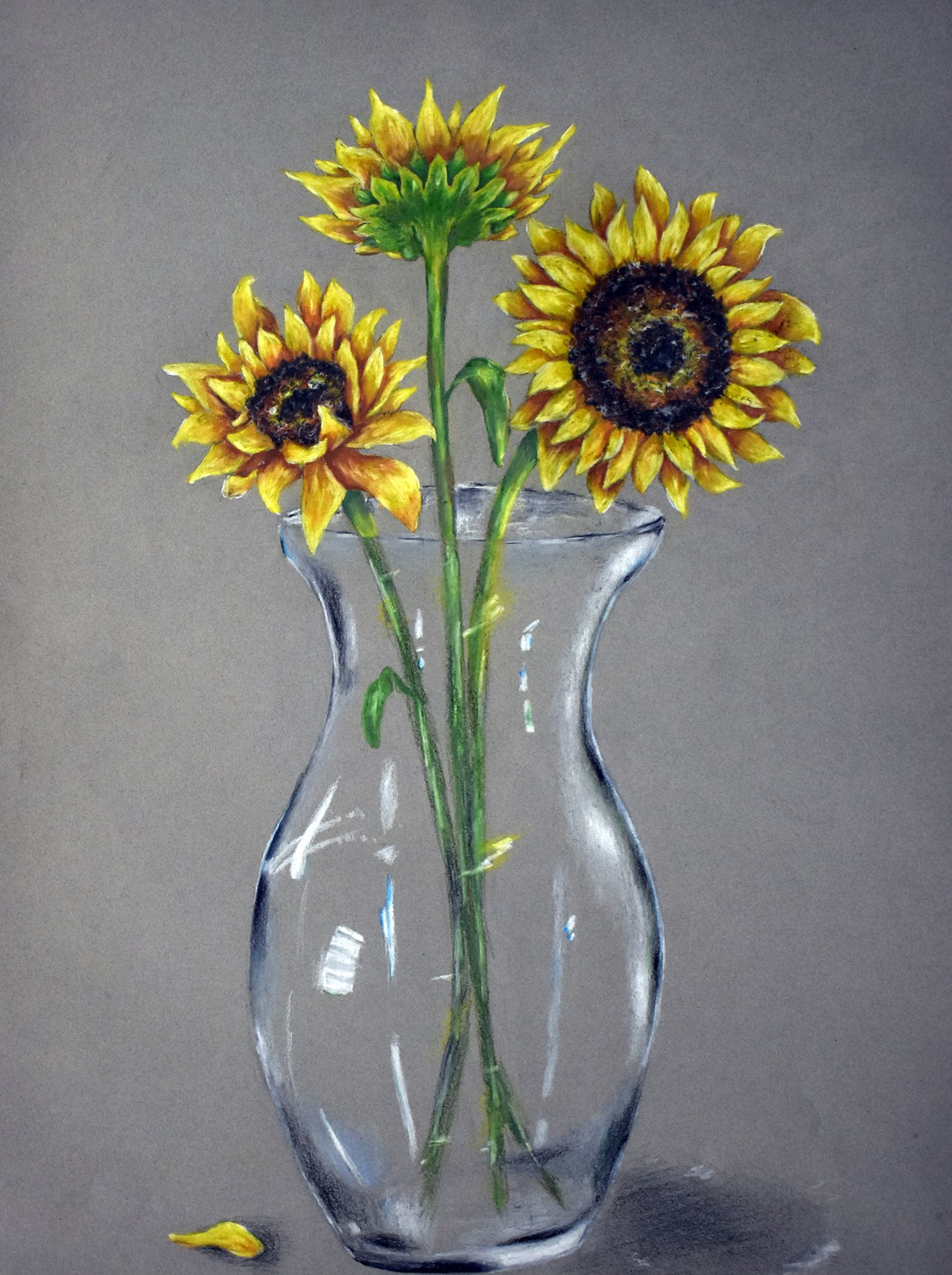 Happy Flowers sunflower painting