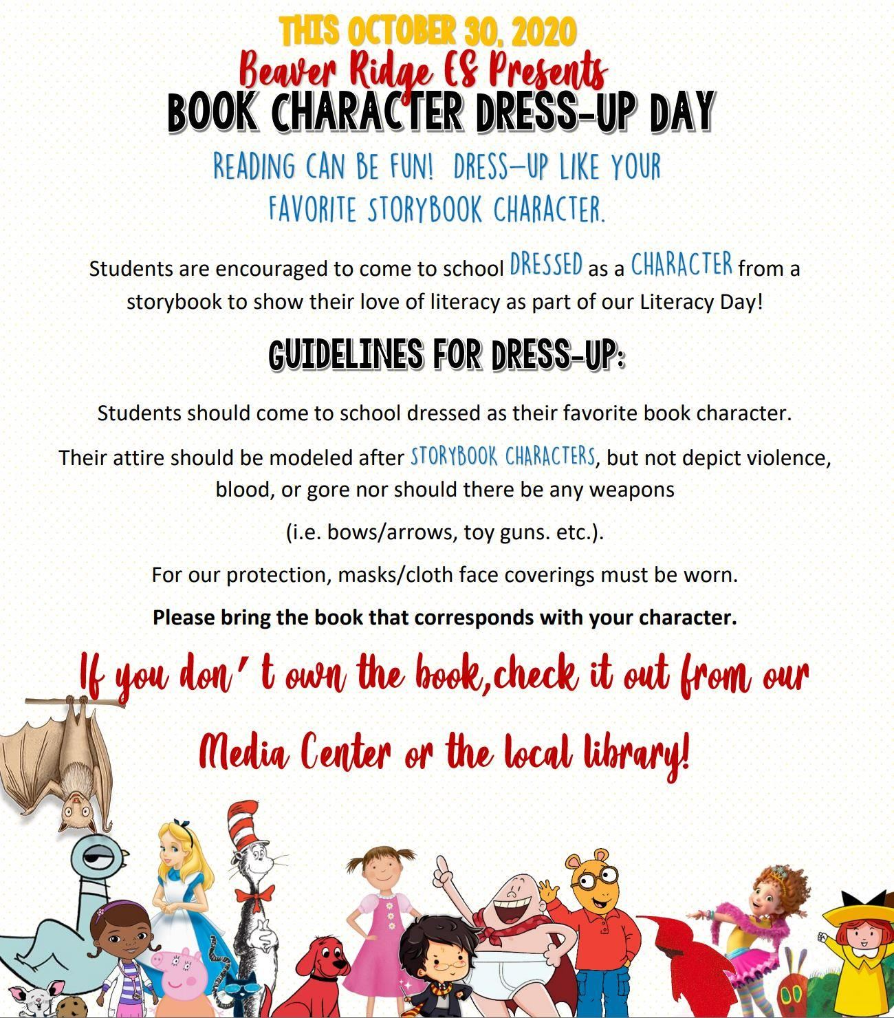 Book Character Dress Up Day English