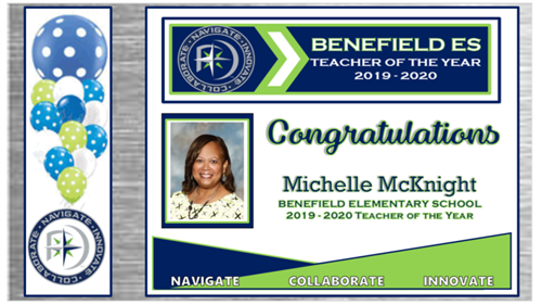 Wanda McKnight - Teacher of the Year at Benefield Elementary School