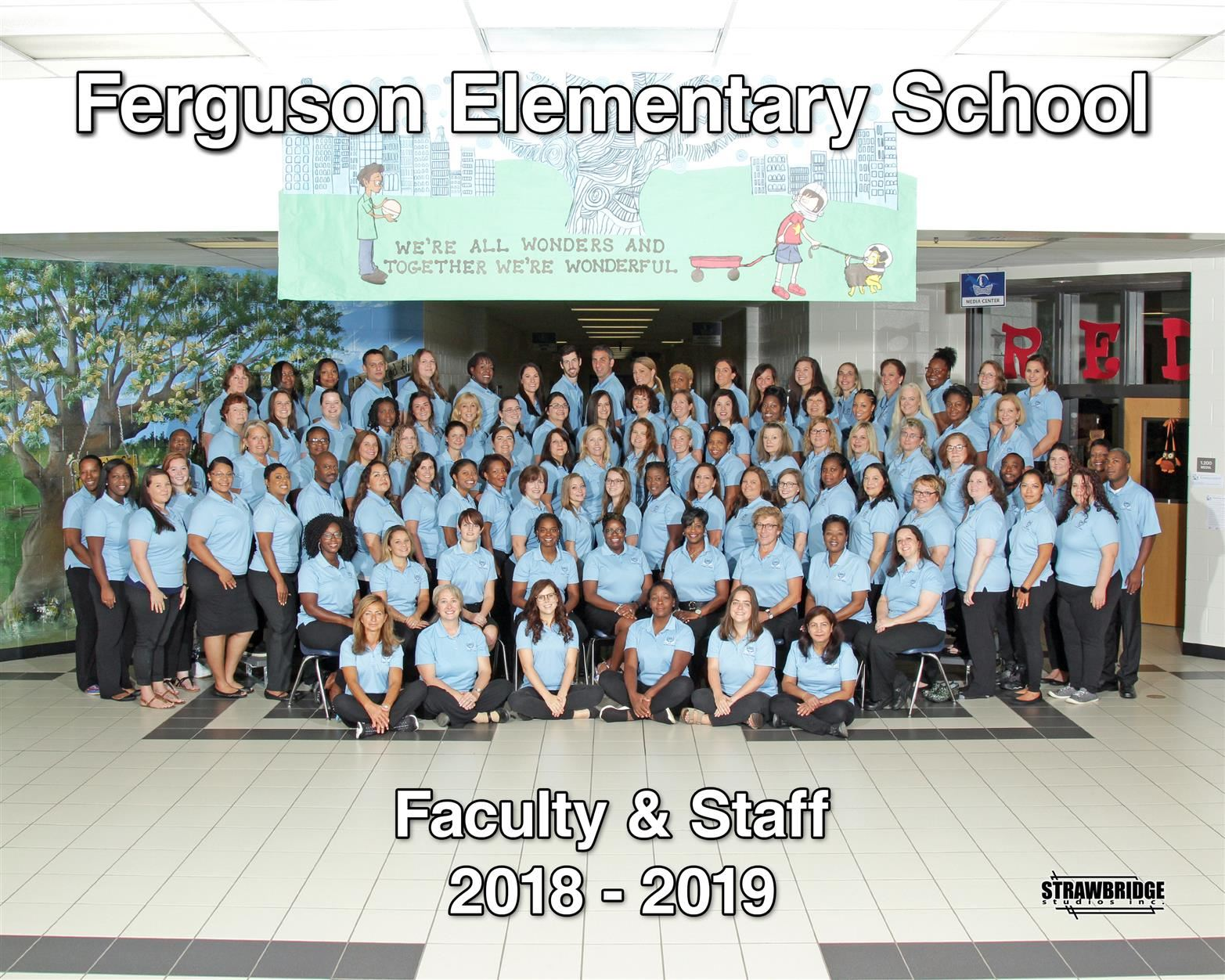 Ferguson Elementary group staff picture.