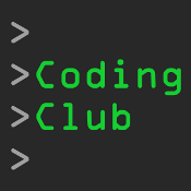 Image with the words, Coding Club