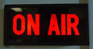 Sign that says On Air