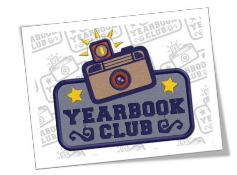 Picture of a camera with a yearbook club sign.