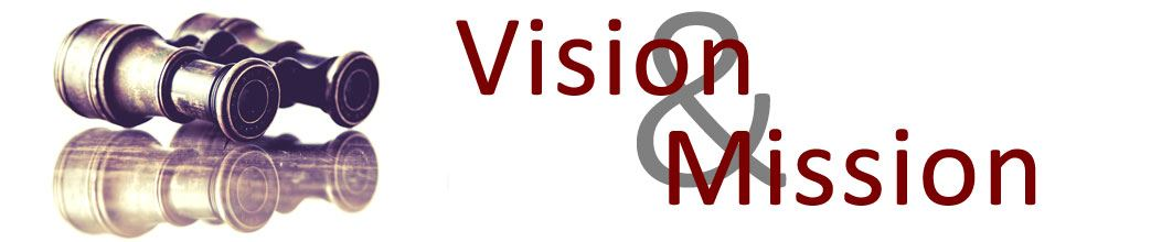 "The words ""Vision & Mission"" appear with a pair of binoculars."