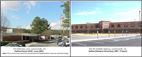 Oakland Center and current Oakland Meadow School pic