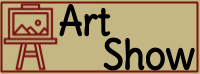 "Clip art of artwork on easel with the words, ""Art Show"""