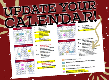 GCPS Shares Calendar Changes for Spring 2021