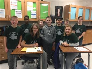 a picture of the eight students that competed in the tournament and two of the teacher sponsors, Mrs, Duncan and Mrs. Phillip