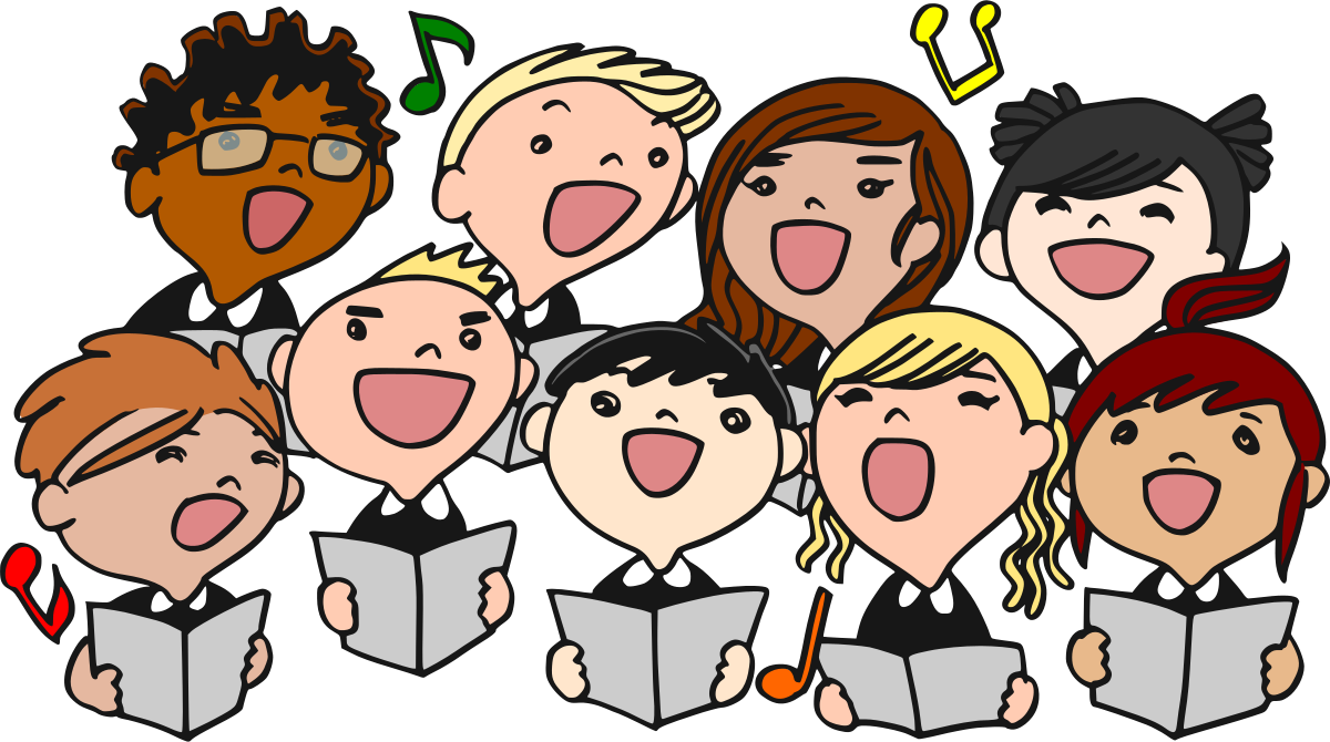a group of children singing