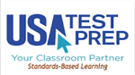 USA Test Prep Logo with text Your classroom partner Standards Based Learning