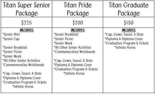 Senior Dues Package Graphic