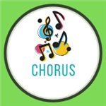 chorus with music notes