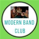 modern band club with guitar