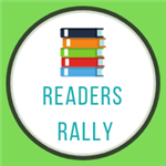 readers rally with stack of books