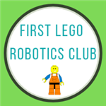 first lego robotics club with lego man