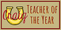Shine!  Teacher of the Year!