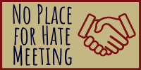 No Place for Hate Meeting