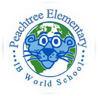Peachtree Elementary IB panther and world logo