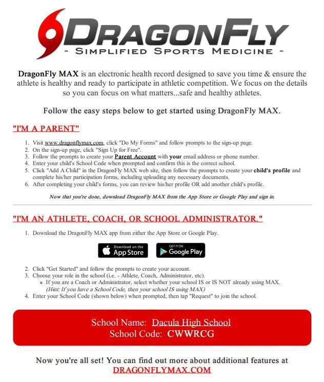 Dragonfly electronic physical form flyer