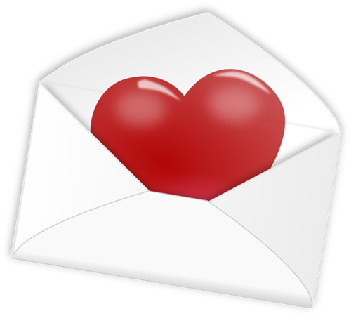 Heart in an envelope