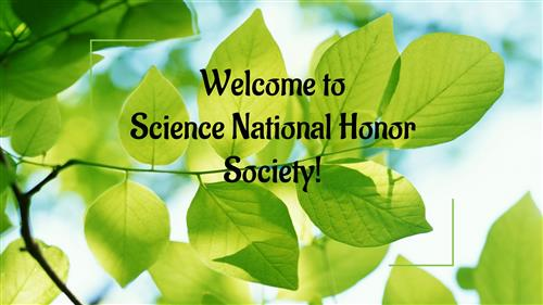 Leaves with Science National Honor Society
