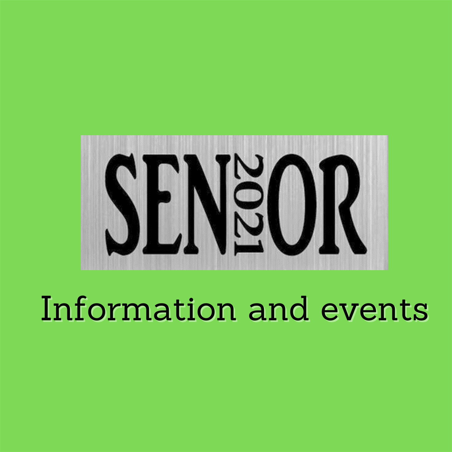2021 Senior Information and Events