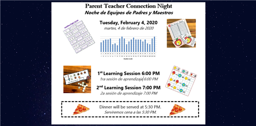 Parent teacher Connection Night is February 4 at 6:00pm