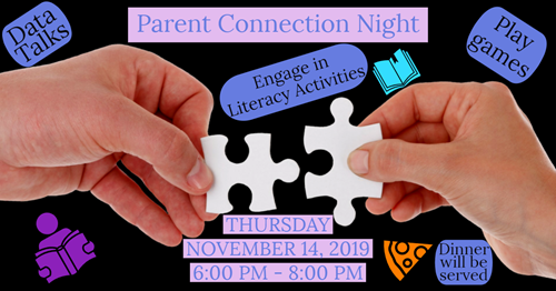 Parent Connection Night is November 14 at 6:00pm.