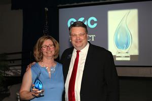 Ms. Herring is presented the GOC Impact Award