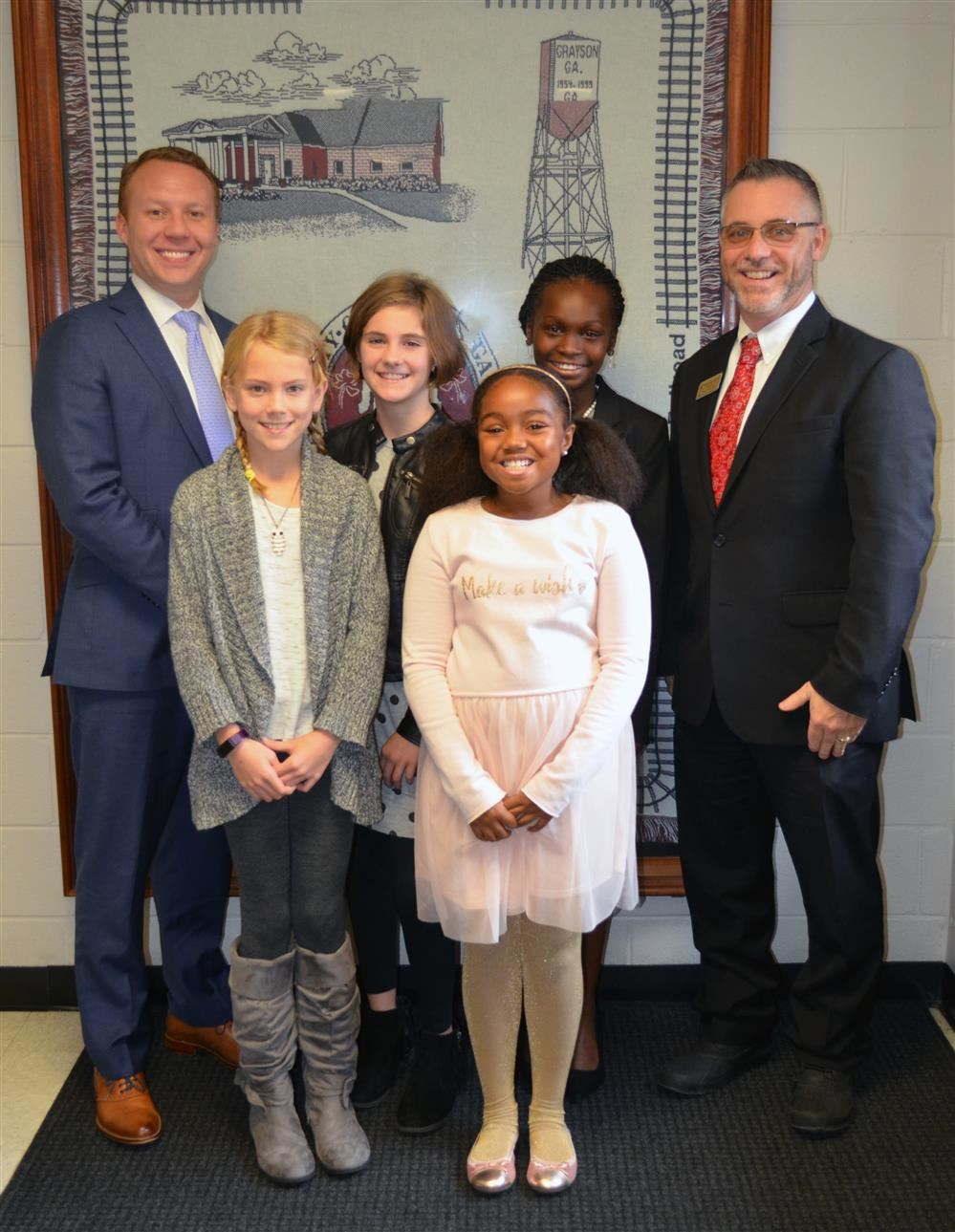 Mr. Lockhart , Eastside Medical Center Chief Operating Officer, visits GES as Principal for the Day