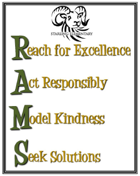 Reach for excellence, act responsibly, model kindness, seek solutions