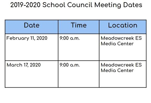 Local School Council Meeting Dates