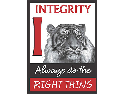 Tiger I is for integrity