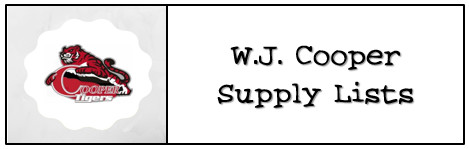 Cooper Supply Lists